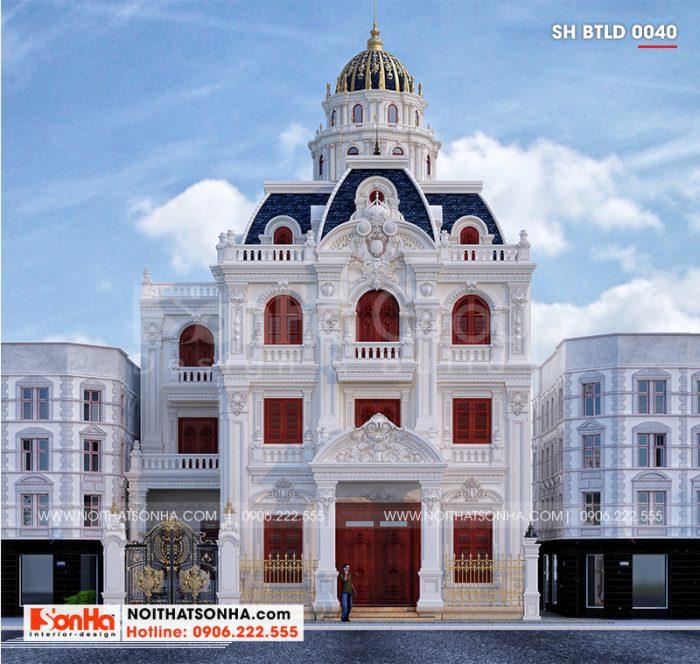 Lâu đài cổ điển tại Hà Nội hiện lên với vẻ uy quyền và sang trọng của công trình kiến trúc đẳng cấp