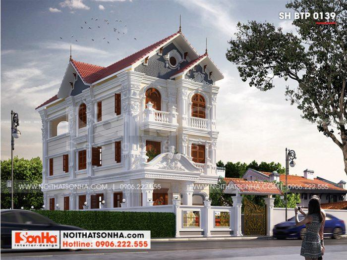 Ngôi biệt thự đơn giản điển hình mẫu biệt thự tân cổ điển đẹp nhất năm