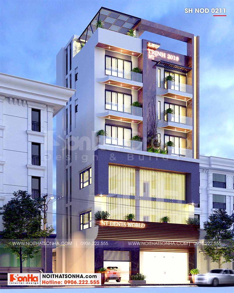 Không gian nhà phố kết hợp kinh doanh hiện đại 6 tầng vô cùng ấn tượng với diện mạo khỏe khoắn, bắt mắt dễ dàng thu hút sự quan tâm của nhiều Khách hàng khi di chuyển qua đây