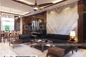 2 Thiết kế nội thất phòng khách biệt thự khu đô thị vinhome imperia hải phòng
