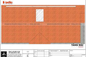 20 Mặt bằng công năng tầng mái biệt thự tân cổ điển 3 tầng tại hải phòng sh btp 0139