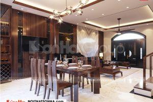 3 Bố trí nội thất phòng bếp ăn biệt thự khu đô thị vinhome imperia hải phòng