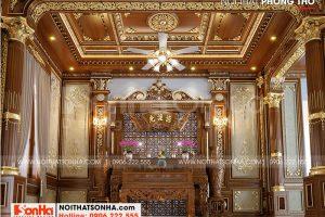 4 Mẫu nội thất phòng thờ biệt thự lâu đài cổ điển tại hà nội sh btld 0040