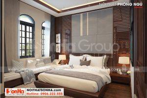 5 Không gian nội thất phòng ngủ 1 biệt thự khu đô thị vinhome imperia hải phòng