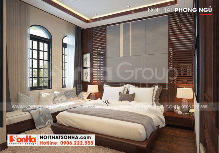 Mẫu phòng ngủ với nội thất tiện nghi đẳng cấp mang đến những giây phút nghỉ ngơi, thư giãn cho chủ nhân
