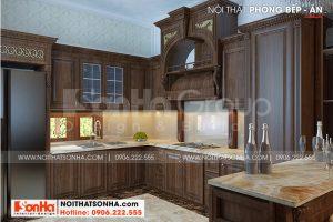 6 Bố trí nội thất phòng bếp biệt thự tân cổ điển 3 tầng tại hải phòng sh btp 0139