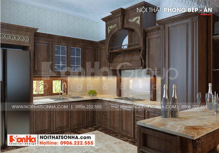 Ý tưởng thiết kế trang trí không gian phòng bếp tân cổ điển với nội thất tiện nghi nhất