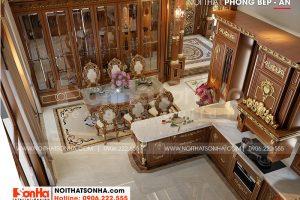 6 Cách trang trí nội thất phòng bếp biệt thự lâu đài đẹp tại hà nội sh btld 0040