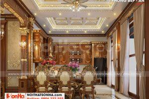 7 Bố trí nội thất phòng ăn biệt thự lâu đài 3 tầng tại hà nội sh btld 0040