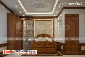 8 Mẫu nội thất phòng ngủ 1 biệt thự tân cổ điển có gara tại hải phòng sh btp 0139