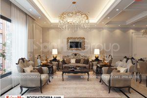 8 Thiết kế nội thất phòng khách nhà ống kết hợp kinh doanh kiểu hiện đại tại hà nội sh nod 0211