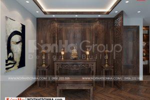 9 Cách trang trí nội thất phòng thờ biệt thự khu đô thị vinhome inperia hải phòng