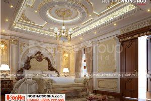 9 Mẫu nội thất phòng ngủ vip 1 biệt thự lâu đài cổ điển tại hà nội sh btld 0040
