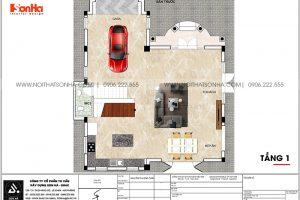 16 Bản vẽ tầng 1 biệt thự khu đô thị vinhomes imperial