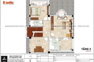 18 Bản vẽ tầng 3 biệt thự có bể bơi khu đô thị vinhomes imperia