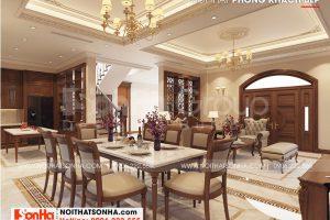 2 Thiết kế nội thất phòng bếp ăn biệt thự khu đô thị vinhomes imperial
