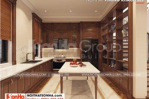 3 Trang trí nội thất phòng bếp ăn biệt thự khu đô thị vinhomes imperial