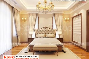 4 Bố trí nội thất phòng ngủ master 1 biệt thự khu đô thị vinhomes imperial