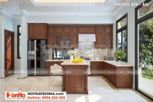 5 Bố trí nội thất phòng bếp ăn sang trọng sh btp 0147