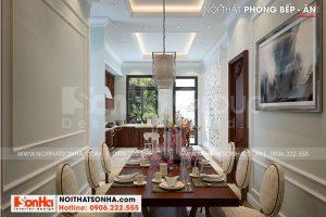 6 Thiết kế nội thất phòng ăn kiểu tân cổ điển sh btp 0147
