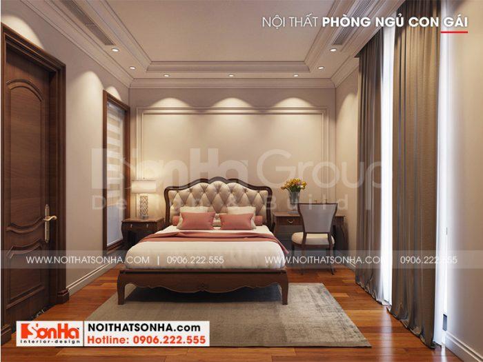 Trang trí phòng ngủ con gái đẹp, nhẹ nhàng mang hơi hướng tân cổ điển