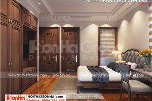 9 Bố trí nội thất phòng ngủ con trai biệt thự khu đô thị vinhomes imperial