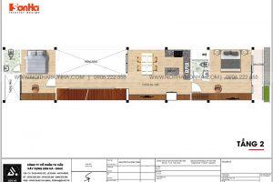 13 Bản vẽ tầng 2 nhà ống hiện đại có 2 phòng ngủ tại hải phòng sh nod 0213