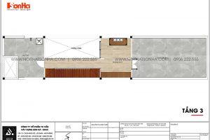 14 Mặt bằng tầng 3 nhà ống 3 tầng kiểu hiện đại tại hải phòng sh nod 0213