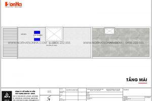 15 Bản vẽ tầng mái nhà ống kiểu hiện đại tại hải phòng sh nod 0213