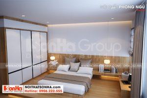 7 Bố trí nội thất phòng ngủ 1 nhà ống tại hải phòng sh nod 0213