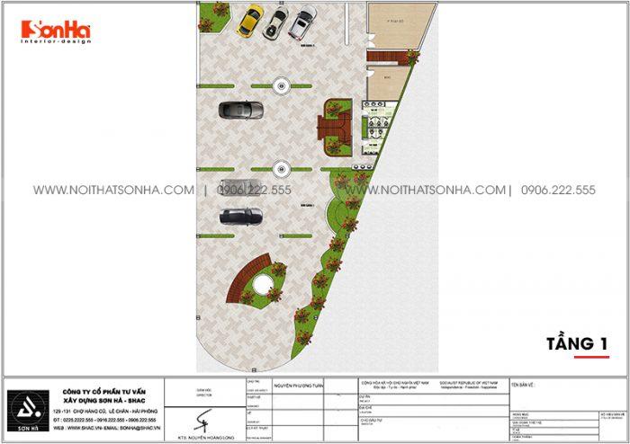 Bản vẽ chi tiết công năng tầng 1 trung tâm tiệc cưới hiện đại diện tích 1181,62m2 (26,2m x 45,1m) tại Hải Phòng