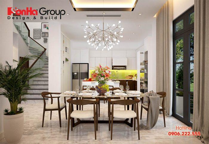 Ý tưởng trang trí phòng ăn và bếp hiện đại với nội thất tiện nghi