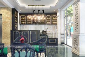 1 Không gian nội thất quầy cafe cao cấp tại quảng ninh