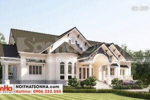 1 Thiết kế biệt thự mái thái kiểu tân cổ điển tại vĩnh long sh btp 0145