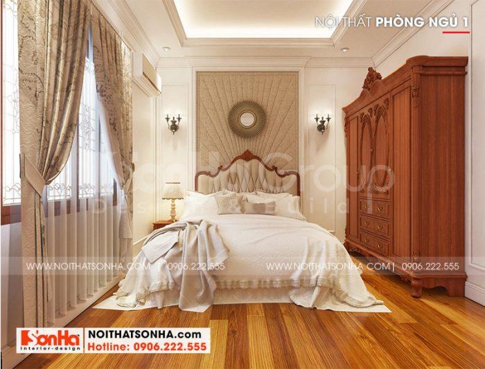 Cách sắp xếp nội thất trong căn phòng được KTS Sơn Hà thực hiện tạo không gian gần gũi, ấm áp
