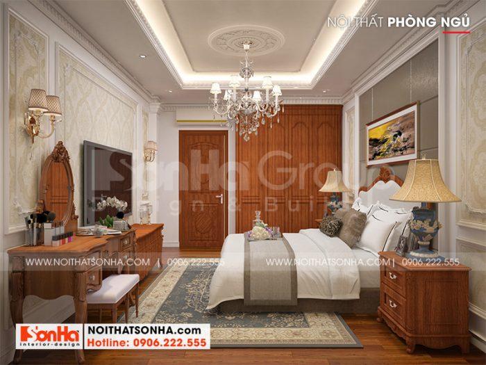 Trang trí nội thất phòng ngủ đẹp, ấm cúng dành cho hai người sinh hoạt rất tiện nghi, ánh sáng thông thoáng