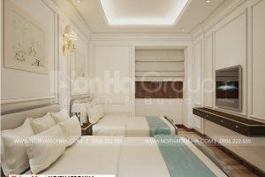 10 Thiết kế nội thất phòng ngủ tầng tum khách sạn tại quảng ninh