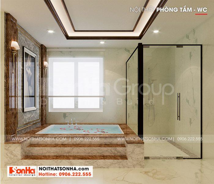 Thiết kế nội thất nhà tắm hiện đại mang đến không gian thư thái nhất cho cả gia đình