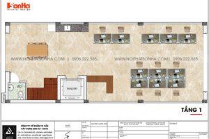 12 Mặt bằng tầng 1 nhà phố liền kề kết hợp văn phòng tại khu đô thị waterfront hải phòng wfc 008