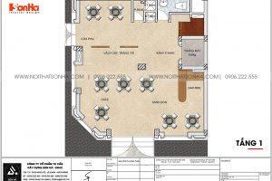 13 Bản vẽ tầng 1 khách sạn mặt tiền 8,5m tại quảng ninh