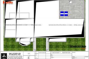 14 Bản vẽ tầng áp mái biệt thự sân vườn kiểu tân cổ điển tại vĩnh long sh btp 0145