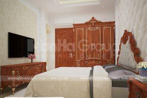 14 Bố trí nội thất phòng ngủ 8 biệt thự tân cổ điển tại an giang sh btp 0150