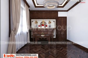 14 Thiết kế nội thất phòng thờ tôn nghiêm tại quảng ninh