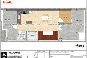 16 Mặt bằng tầng 5 nhà phố liền kề kết hợp văn phòng tại khu đô thị waterfront hải phòng wfc 008