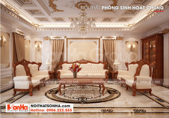 Thiết kế nội thất phòng sinh hoạt chung đẹp mang đến không gian sum vầy ấm cúng cho cả gia đình