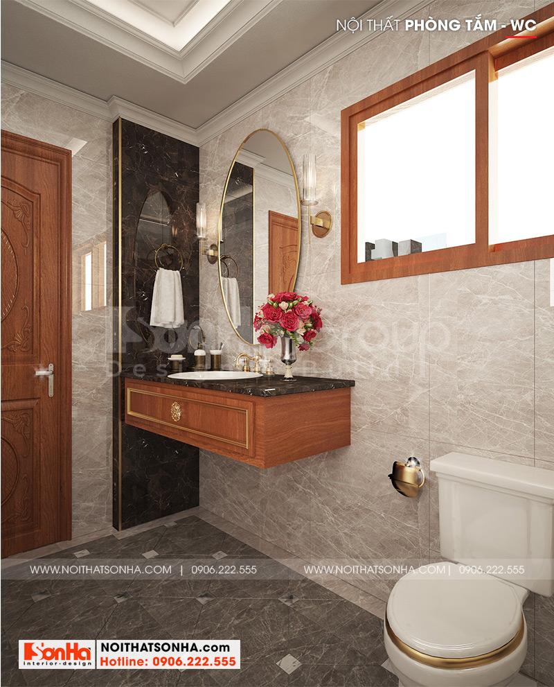 Thiết kế nội thất phòng tắm, nhà vệ sinh với trang thiết bị hiện đại