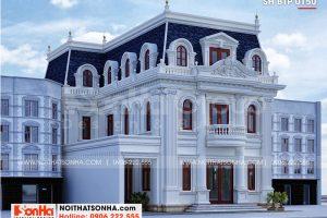 2 Thiết kế biệt thự tân cổ điển đẹp tại an giang sh btp 0150