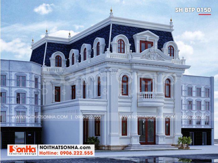 Kiến trúc ngôi biệt thự mang vẻ đẹp sang trọng và tinh tế từ mọi góc đặt mắt