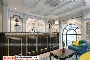 2 Trang trí trí nội thất sảnh lễ tân khách sạn đẹp tại quảng ninh