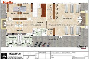 20 Bản vẽ tầng 1 biệt thự tân cổ điển mặt tiền 12m tại an giang sh btp 0150